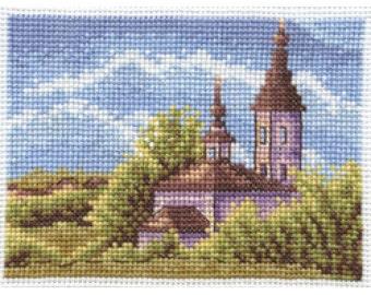 Cross Stitch Kit Temple