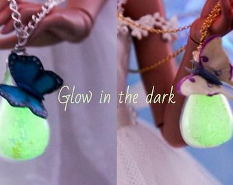 OOAK fairy glass bags glow-in-the-dark for BJD dolls (Yosd, Msd, Sd, 1/6, 1/4, 1/3)