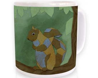 Geometric Squirrel mug