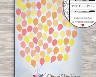 Custom Guest Book Alternative Guest Book Alternative Wedding Guestbook Alternative Guestbook Canvas 16 x 20 inches Balloons Guest Book