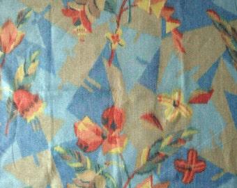 1930s Art Deco Cepea Fabric Remant or Sample Piece