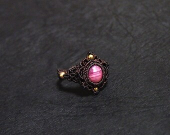 Ruby Macrame Ring / MADE IN JAPAN