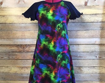Nebula Flutter Dress