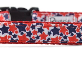 Stars Dog Leash, patriotic dog leash, red dog leash, blue dog leash, red white and blue dog leash, star leash, summer leash