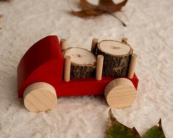 Toy Truck, Wooden Toy Truck, Wood Truck, Toddler, Toy Wood, Truck for Children and Toddlers, Eco Friendly Toy