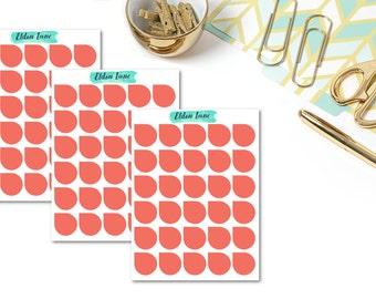 June Teardrops // Planner Stickers // Functional // Plum Paper Planner
