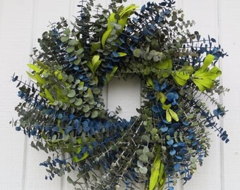 Eucalyptus Wreath, Handmade Wreath, Handmade Eucalyptus Wreath, Dried Flower Wreath, All Natural wreath