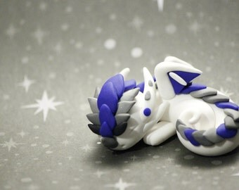 Baby Polymer Clay Sleeping Dragon Fantasy Handcrafted