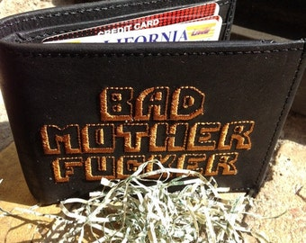 Black Original BMF® Brand Bad Mother F*cker Leather Wallet 100% Genuine Quality