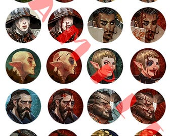 Dragon Age Inquisition Party Member Pins