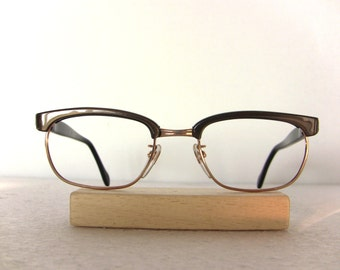 Optura 60's Eye Glasses Oval Gold Filled for Lady Gold Glossy Topas Eyeglasses Eyewear FREE SHIPPING Her She Women Clubmaster New Old Stock