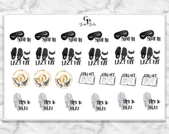 CHILL OUT/RELAX Icon Planner Stickers