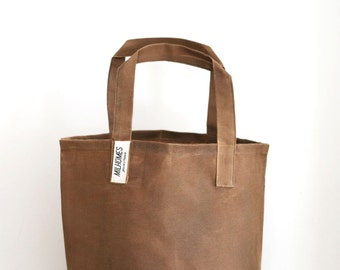Waxed canvas tote bag, Market bag, Grocery bag, Reusable Shopping Bag, Tote bag, Weekender bag, Grocery tote, Wax canvas , Carry all.