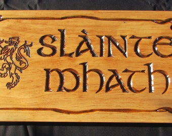 Slainte Sign; Slainte Mhath; Gaelic drinking slogan;Irish Drinking;Irish Pub; Pub Decor