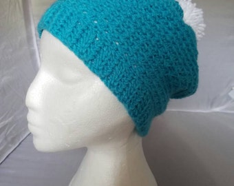 Custom Slouchy Poof Beanie Perfect For Winter