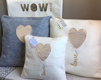 PLUSH-SHINING PILLOWS-Soft&Chic-GoldenIcons50-Wowmood Design Style