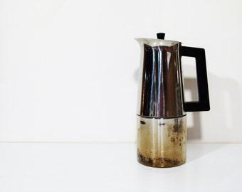 1 Coffee maker moka Alfa inox 18/10 - italian coffee maker - italian coffee - kitchen - table