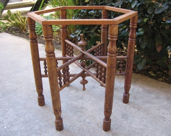 Late 1800's Victorian Wooden Table Legs Base Architectural salvage Fantastic Look and Design 1.00 Shipping! #BV