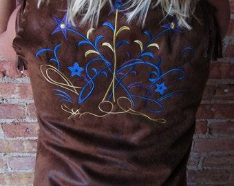 Amazing Vintage Boho Sued Vest