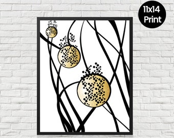 Abstract Circle Print, Wall Print, Abstract Circles, Modern Wall Art, Home Decor, Abstract Poster, 11x14 Print