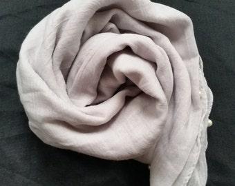 Fog Grey Pearl scarf/hijab