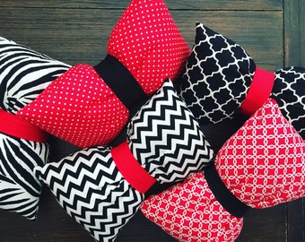 Bow Pillow, Team accessory, Competition Pillow, Travel, Lumbar, Neck, Seatbelt Pillow
