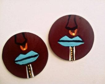 African earrings  tribal