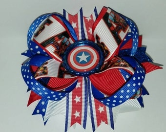 Captain America Hairbow
