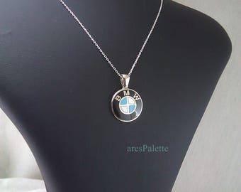 BMW Necklace-Handmade-925 silver - International Free Standart Shipping