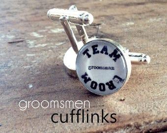 team groom GROOMSMEN | cufflinks