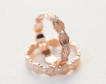 wedding ring set gold stacking rings diamond stacking ring gold stacking ring set - Lesbian Wedding Rings