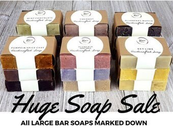 SOAP SALE - Olive Oil Handmade Soap - Vegan Handcrafted Soap - Lilac + Lilies Vegan Soap - Cold Process Soap
