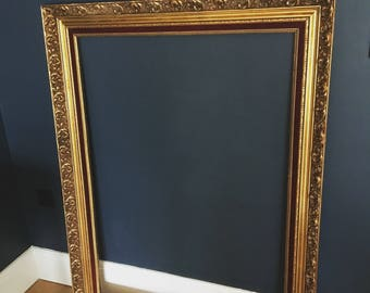 Now sold! Extra large Gilt and wood vintage picture frame