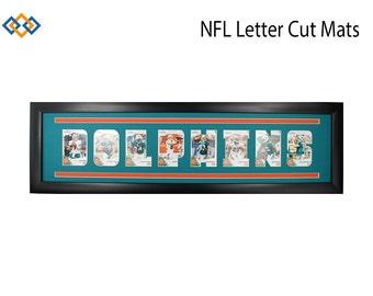 NFL Letter Cut Photo Mats