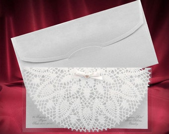 Laser Cut Wedding Invitations With Lace | Acrylic Wedding Invitations Free  Shipping