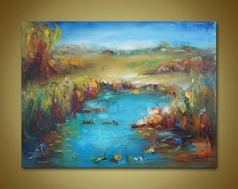 Landscape Painting, Oil Painting Original, Oil Painting, Large Canvas Wall Art, Abstract Painting, Large Canvas Painting, Original Painting