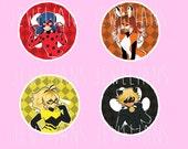 buttons: miraculous tales of ladybug & cat noir