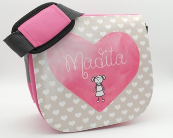 Personalized Kitty bag Childrens bag Shoulder bag in pink