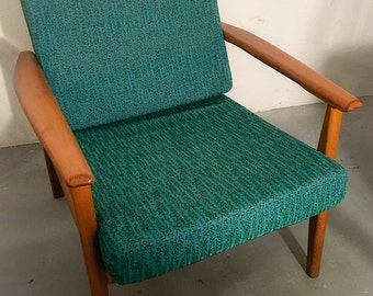 Mid century lounge chair petrolfarbenem related