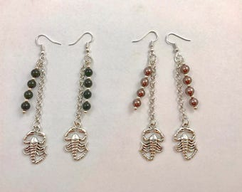 Scorpio / Scorpion earrings - ONE pair