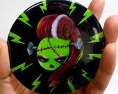 Lady Frankenstein Pinback Button - 3 inch