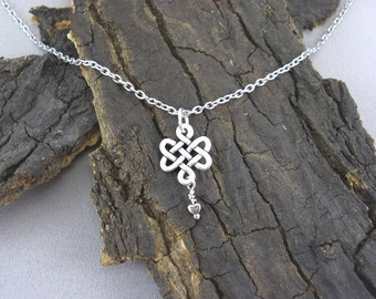 Necklace Celtic knot Heart Heart silver plated