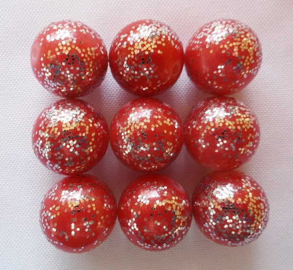 20mm Bead Beads: 20mm Glitter Beads 20mm Beads Bubblegum Beads Chunky