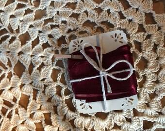 5/8 Inch Organza Ribbon with silk sides