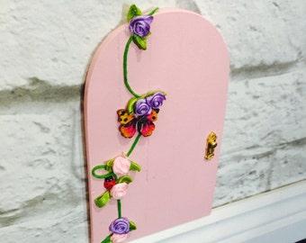 Fairy Garden Door - Pink Fairy Door - Fairy Door Kit - Fairy Garden Kit - Fairy Garden Accessories - Wooden Fairy Door - Indoor Fairy Door