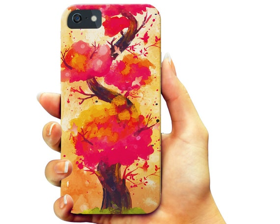Colorful Tree iPhone 6 7 Case, Pink Tree iPhone 5 Case, Painting Print Galaxy S 6 7 Case, Abstract Forest Slim Galaxy Note Case