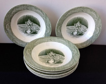 Royal China Co. (USA)  Old Curiosity Shop Rimmed Soup Bowl - Only 2 Left!!!