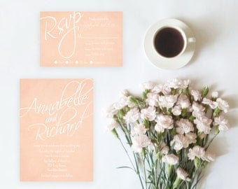 Blush Wedding Invitation Set