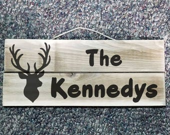 Hunting Family Name Sign
