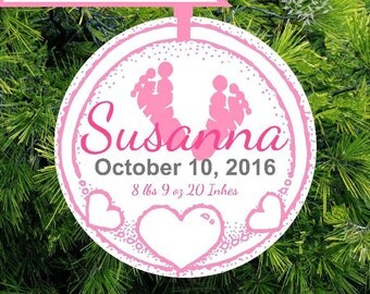 Baby's First Christmas Ornament | Infant Keepsake Ornament | Baby's Personalized Holiday Ornament | CO-BFH-11172016-01  - lovebirdschristmas